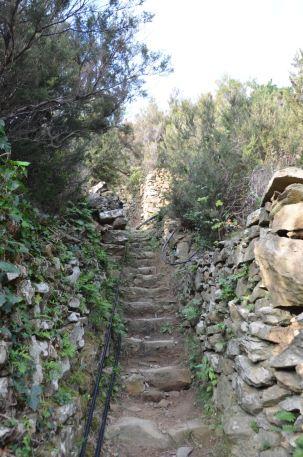 steile Treppe
