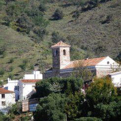 Benaque village with church