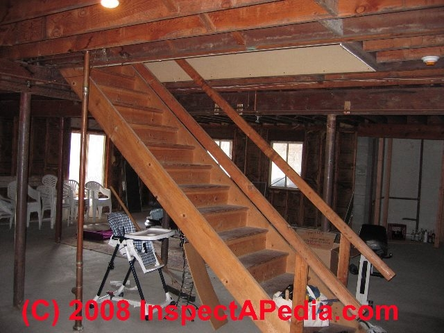 Basement Stairways Guide To Stair Railing Landing Construction | Cost To Replace Basement Stairs | Hardwood | Stringer | Spiral Staircase | Stair Railing | Bulkhead