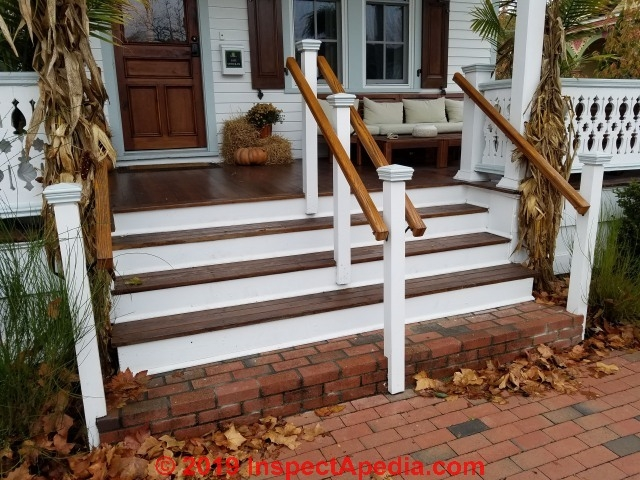 Options For Stairway Newel Posts Stair Guard Ramp Newel Post   Attaching Handrail To Newel Post   Bolt   Fine Homebuilding   Stair Treads   Wood   Baluster