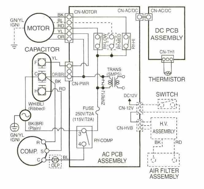 window ac unit wiring diagram wiring diagram air conditioning pressor wiring diagram wire