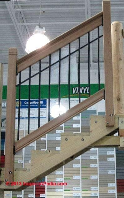 Metal Baluster Installation Procedure   Outdoor Stair Railing Menards