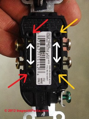Backwired electrical receptacle & switch connectors: safe
