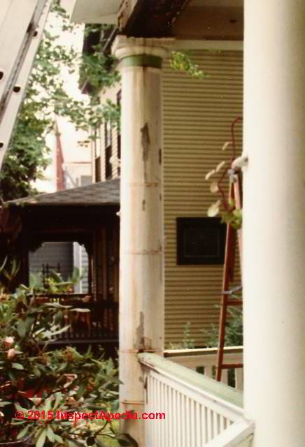 Porch Column Repair Or Replacement Porch Column Repair | Repairing Outdoor Wooden Steps | Stair Stringer | Concrete Slab | Deck Stairs | Concrete Porch | Deck
