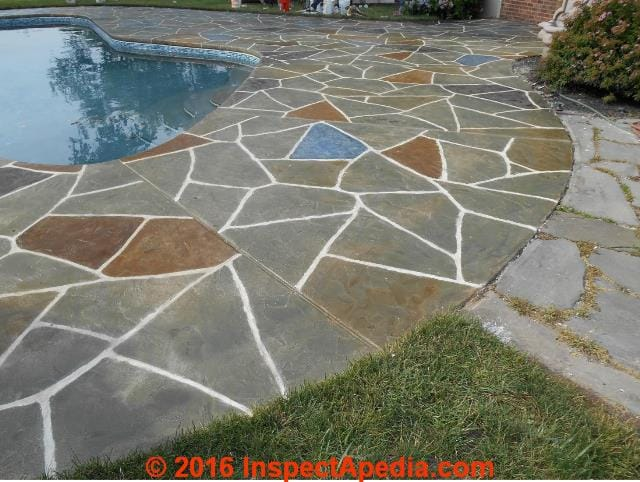 stamped concrete patio walkway
