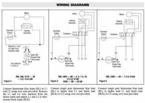 Room thermostat wiring diagrams for HVAC systems