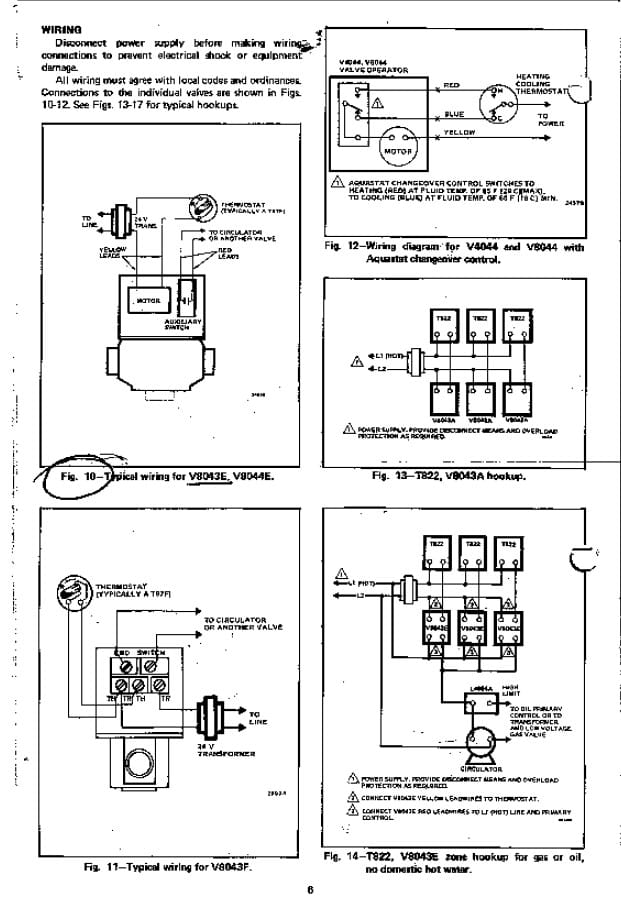 honeywell ve zone valve wiring diagram wiring diagram honeywell zone valve v8043f1036 wiring diagram wire v8043e1012