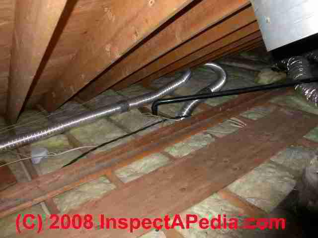 bath exhaust fan duct slope