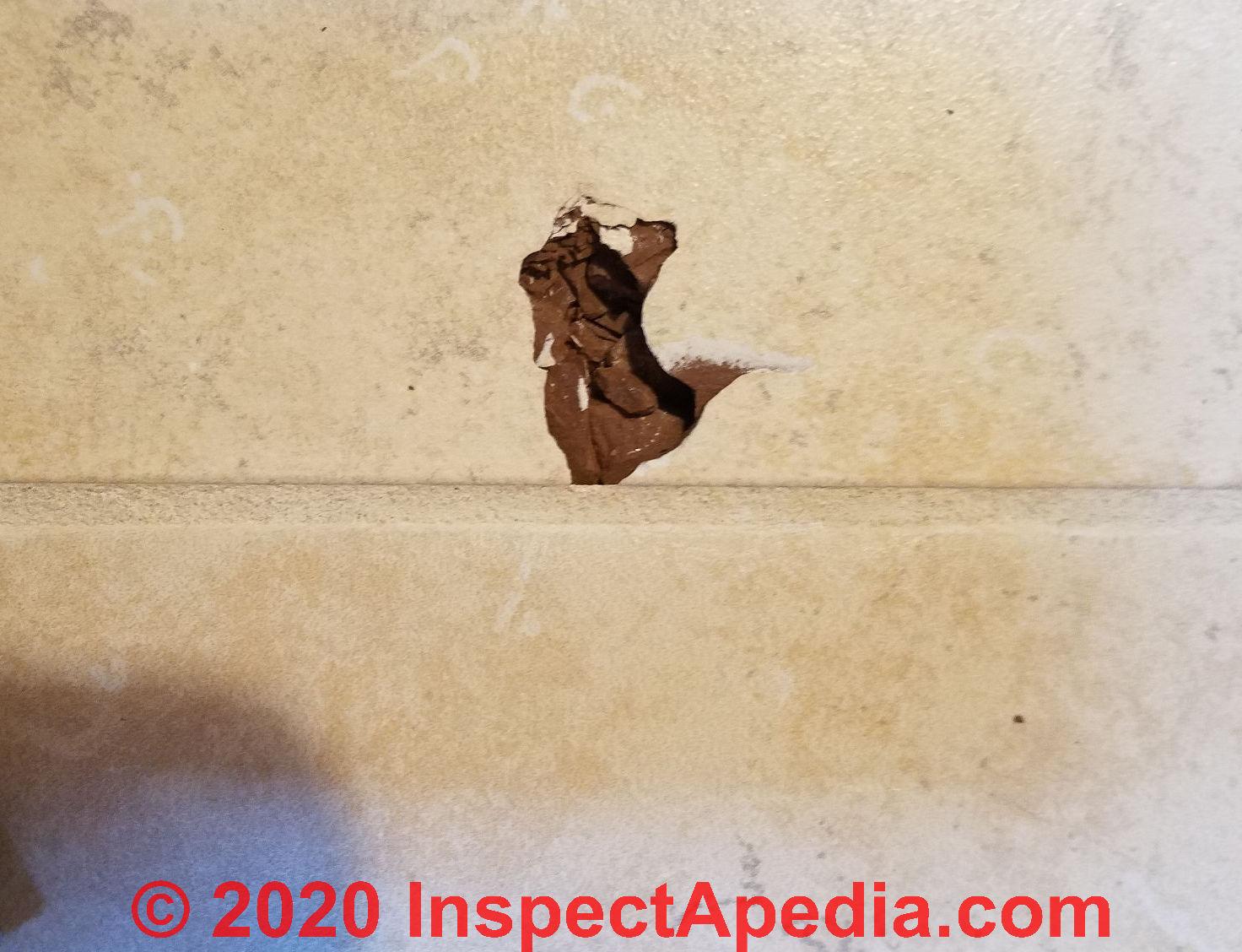damaged ceramic tile
