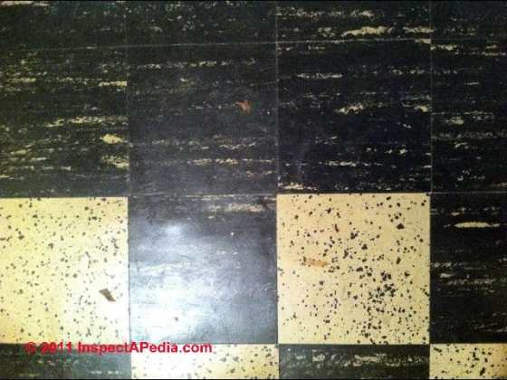 How to identify asbestos floor tiles or asbestos containing sheet     Armstrong like Excelon  C  Daniel Friedman Some asbestos containing flooring