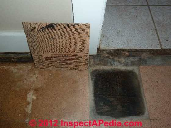 Asbestos Sources in Mastics  Cutback Adhesive  Underlayments  or     Asbestos containing vinyl asbestos floor tiles
