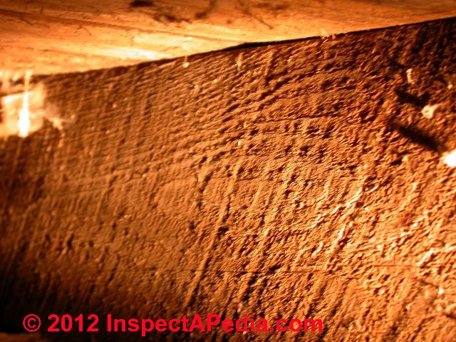 Adze, Axe, Or Saw Cut Marks On Lumber Indicate Building