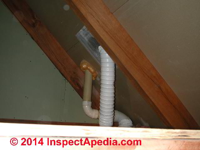 routing a bath vent duct down out or
