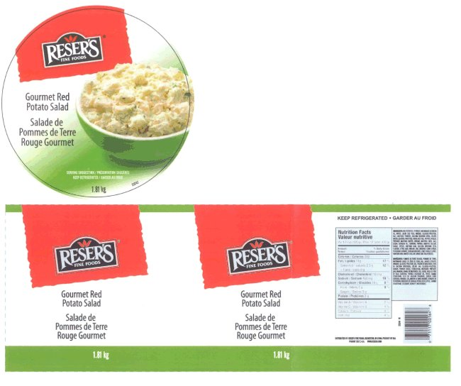 Reser's Fine Foods - Gourmet Red Potato Salad - 1.81 kilogram