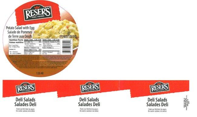 Reser's Fine Foods - Potato Salad with Egg - 1.25 kilogram