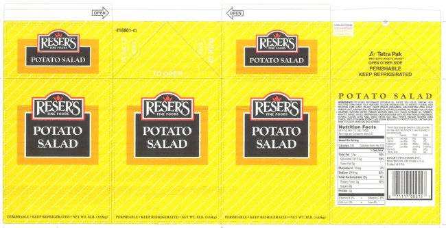 Reser's Fine Foods - Potato Salad (bulk)