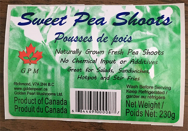 GPM : Sweet Pea Shoots - 230 g