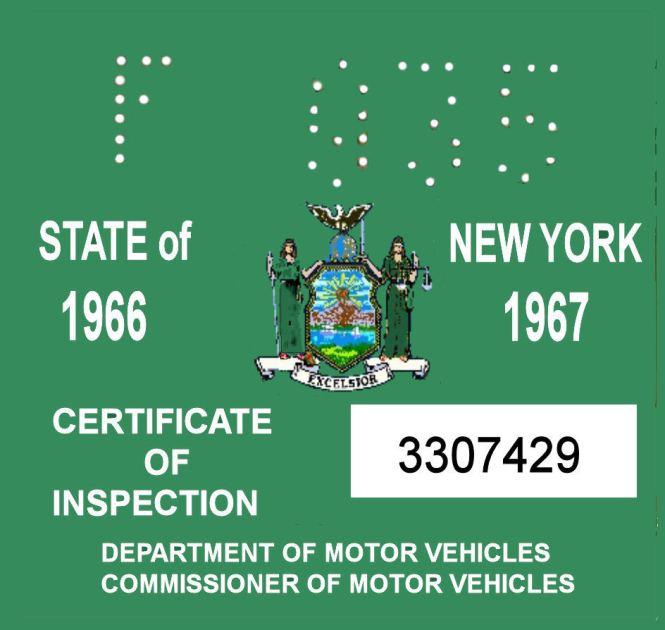 Fake Inspection Sticker Down