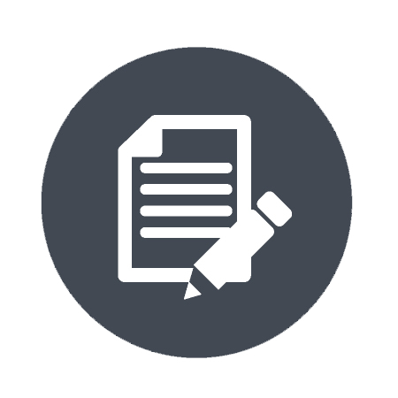 wdi inspection report icon with pencil