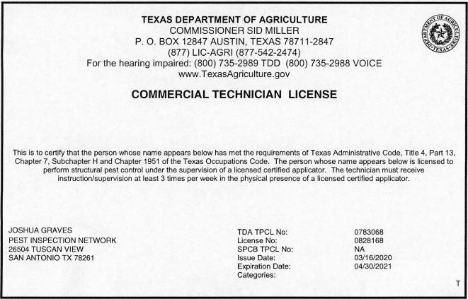 WDI tda license