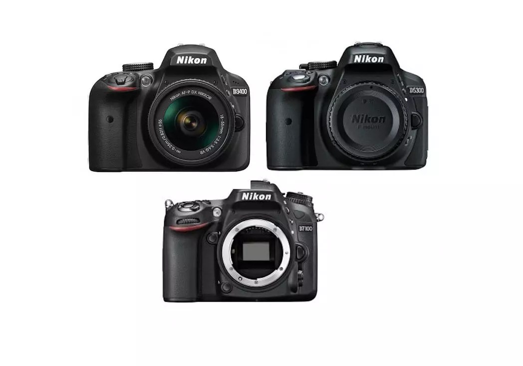 Nikon D3400 vs D5300 vs D7100 Comparison | Specs Shootout