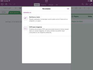 Actualización OneNote para iOS