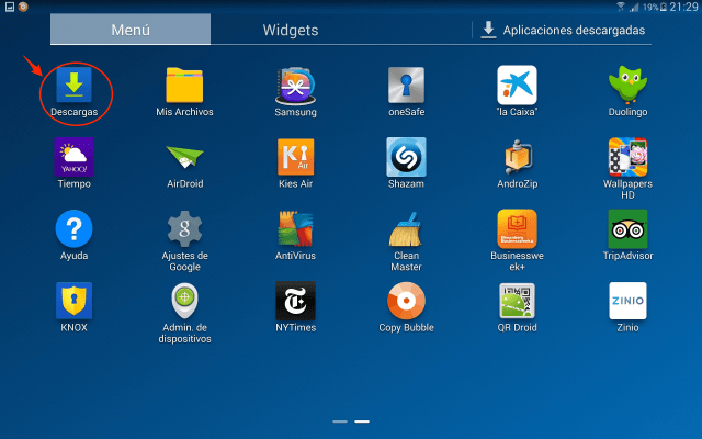 liberar_espacio_en_Android_descargas