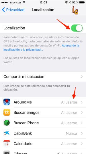 batería en iOS __localizacion