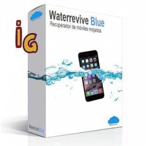 mojado el móvil _ waterrevive blue