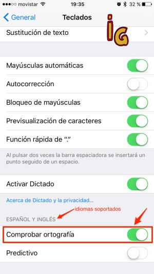 corrector -desactivar corrector ortografico