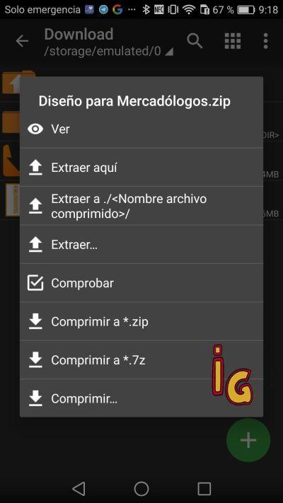 captura pantalla ZArchiver