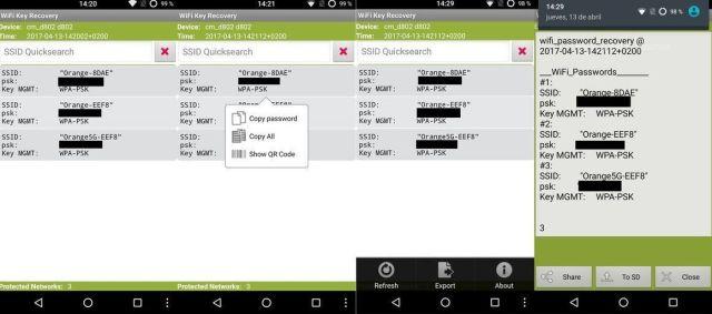 contraseñas de red wifi en Andoid _ Wifi Key Recovery