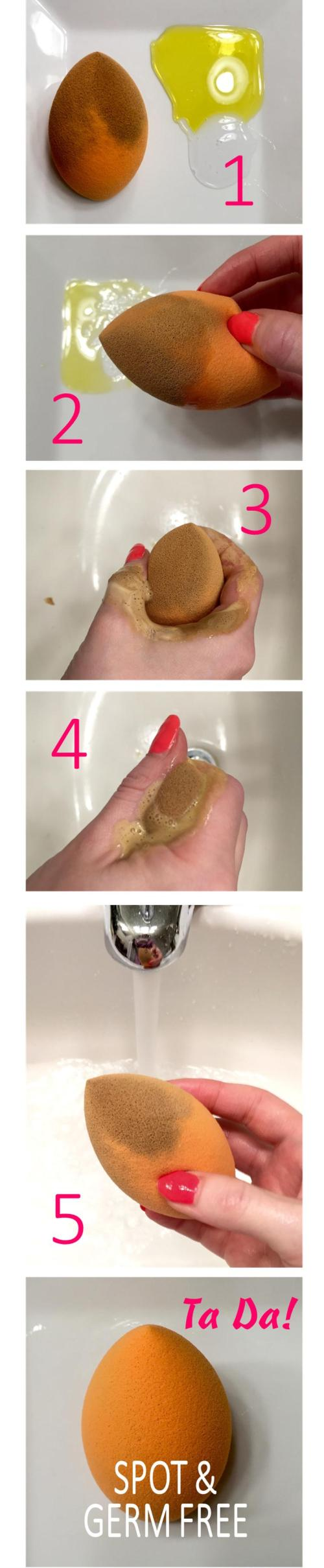 Step By Step Tutorial for a Clean Complexion Sponge