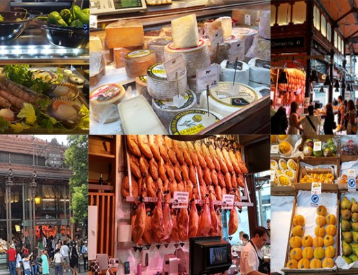 Foodmarket in Madrid compilatie