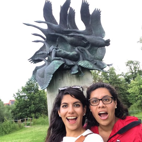 My sister and I just loved the sculpture of the princess and the swans!