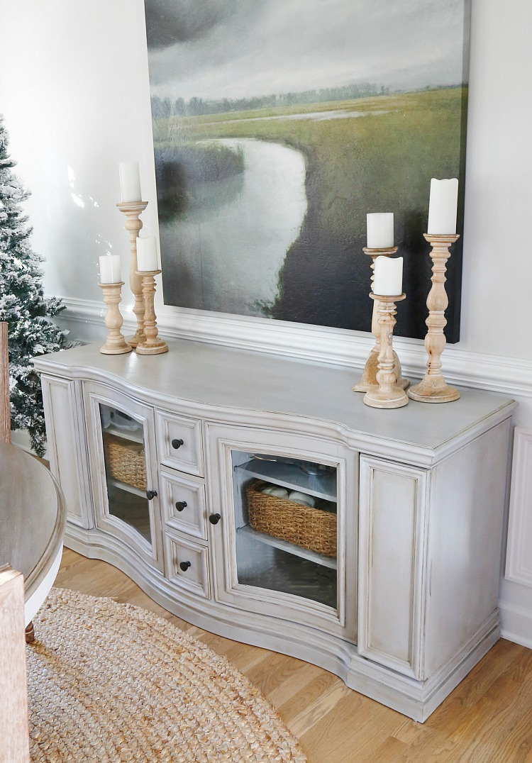 Chalk painted living room