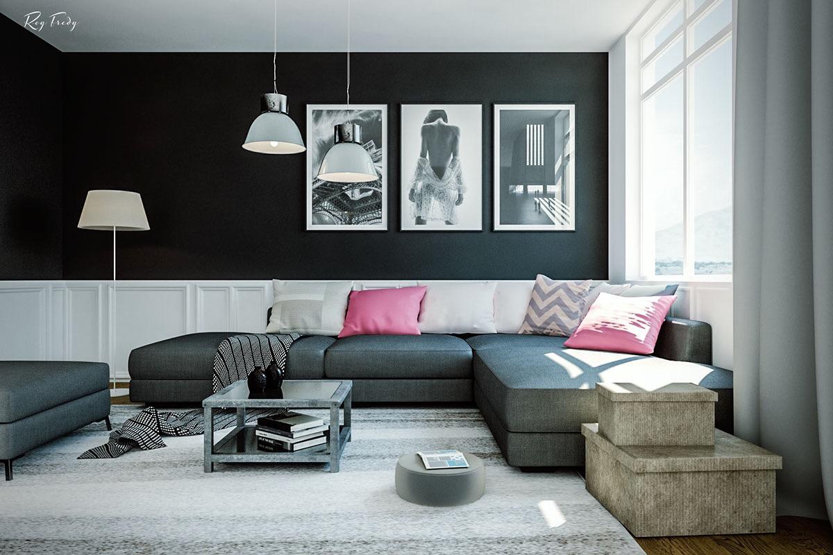 flat matte living room combination