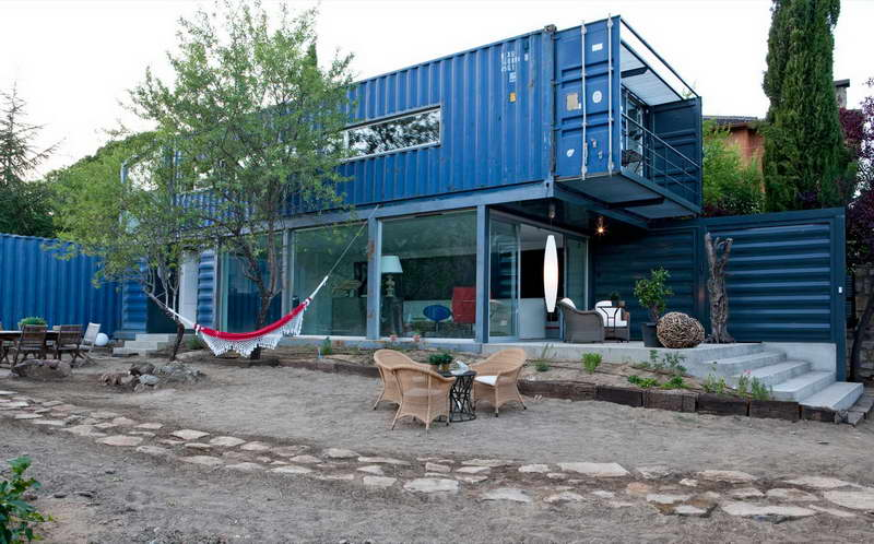 two story container house