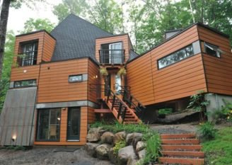 Container House Maximize Storage Wooden Style
