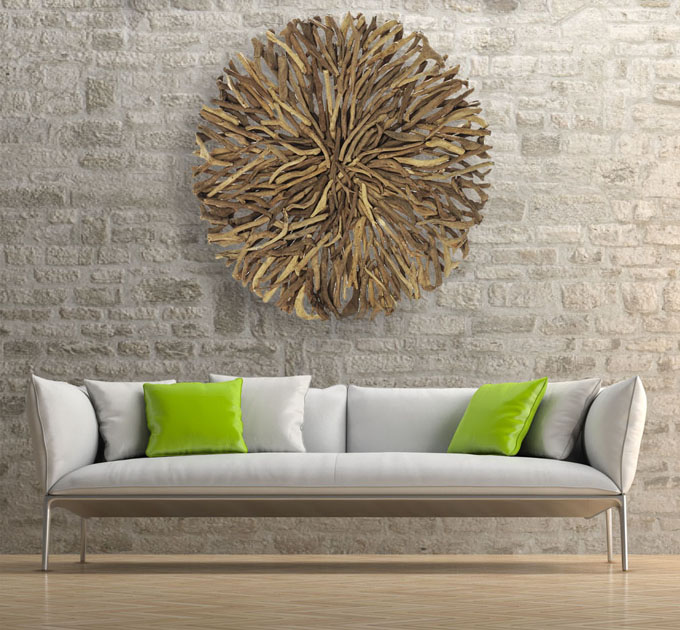 Wooden Style Art Wall Hanging