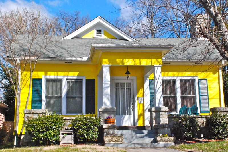 bright yellow house color inspiration
