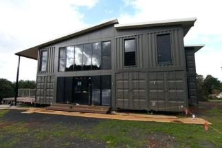 dark large container house