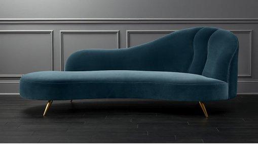 Chaise Lounge Sofa blue modern sofa