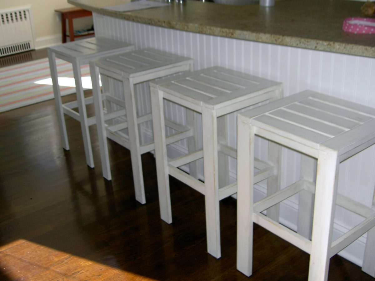 homemade chair square design white