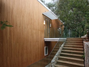 house with laminated bamboo design