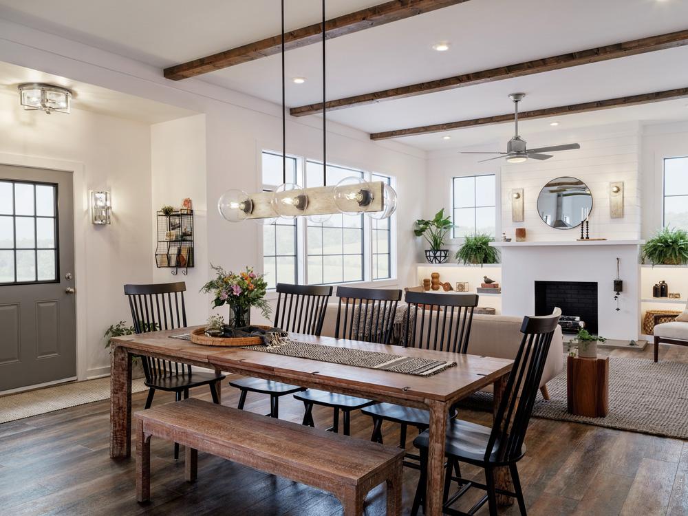 modern pendant lighting dining room