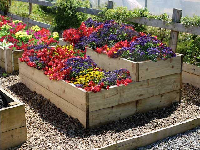raised flower garden bed