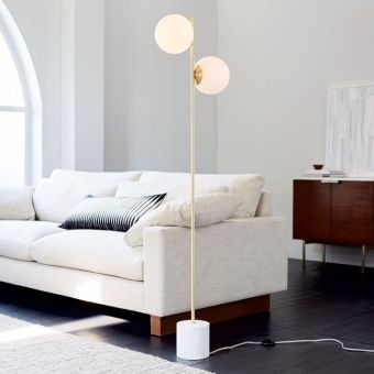 sofa white color with pillows design