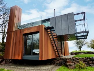 wooden outdoor materials container house