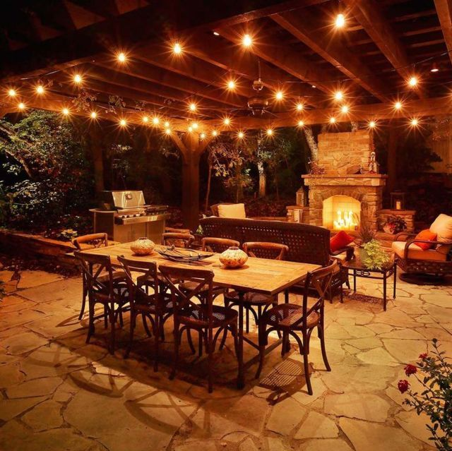 backyard cafe ideas light design